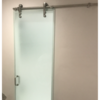 New glass and shower