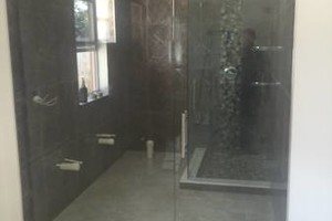 Photo #1: New glass and shower
