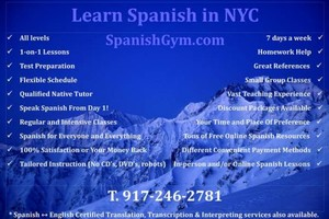Photo #1: Certified Spanish Tutoring NYC - $60hr.
