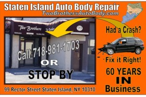 Photo #1: Staten Island Collision Repair Two Brothers Auto Body