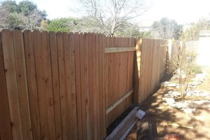 Photo #1: WOOD PRIVACY FENCE REPAIRS AND RE-BLDG, ETC