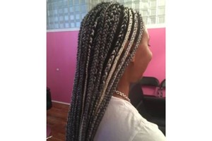 Photo #1: Box Braids Corn Rows