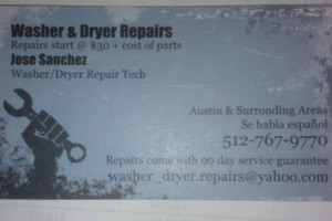 Photo #1: LET ME REPAIR YOUR WASHER & DRYER - FREE PHONE ESTIMATES