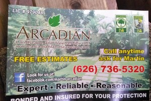 Photo #1: Arcadian Tree Service landscaping and power stump grinding