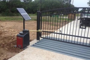 Photo #1: AUTOMATIC GATES. Solar / AC Power