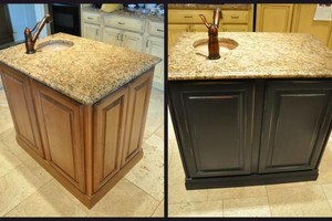 Photo #1: Refurbish your Kitchen & Bathroom Cabinets From Old 2 New!