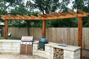 Photo #1: Outdoor Kitchen - Pergola