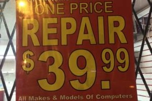 Photo #1: COMPUTER REPAIR...ONLY ONE FIX PRICE - $40))