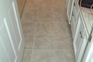 Photo #1: C & C Construction - Tile Kings. Any BathRoom Floor Tiled - $450