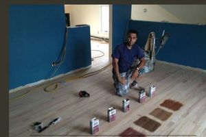 Photo #1: Wood floor sanding