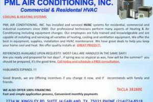 Photo #1: PML AIR CONDITIONING. HVAC REPAIRS AND SERVICE