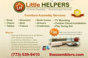 Photo #1: Furniture Assembly Service. Little Helpers