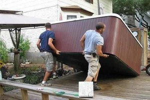 Photo #1: Hot Tub/Spa Movers - moving or relocatin