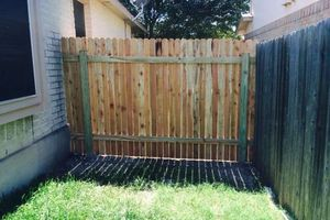 Photo #1: Wood Fence repairs, Gate Repair