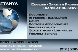 Photo #1: ENGLISH SPANISH TRANSLATION AGENCY FRIENDLY SERVICE, LOWER PRICES
