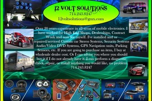 Photo #1: 12VoltSolutions. GPS TRACKING*ALARMS*VIDEO*AUDIO SALES INSTALLATIONS
