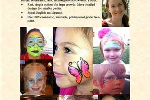 Photo #1: Face painter, Balloon Twisting, Glitter Tattoos, Crafts