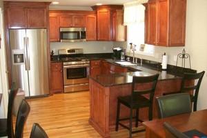 Photo #1: Handmade Custom Kitchen Cabinets