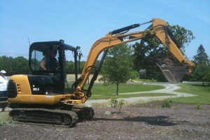 Photo #1: Excavator & operator for hire. Landscaping, Grading and more...