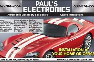 Photo #1: PAULS ELECTRONICS. ONSITE AUTO ACCESSORY INSTALLATIONS