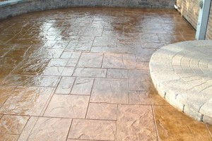 Photo #1: STAMPED CONCRETE - STAINED CONCRETE. Elite Waterproofing & Coatings