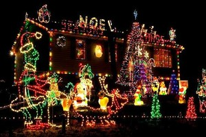 Photo #1: Pete's Christmas Light Hanging, Decorations, TV's & Gutter Cleaning