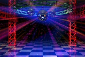 Photo #1: Low Cost DJ speaker, Truss, mirror ball, lighting system rental