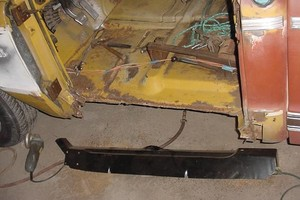 Photo #1: Floor Pans -- PANELS REPLACED -- FABRICATION WORK -- WELDING REPAIRS