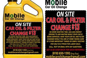 Photo #1: Mobile Car Oil and Filter Change $13