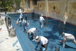 Photo #1: Pool plaster, tile, coping decking