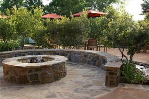 Photo #1: Fire pit / retaining wall/ landscapes/ stonework/ outdoor patio