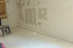 Photo #1: Drywall , tape mud , paint , demo , roofing , framing , cabinet...