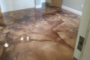 Photo #1: Decorative concrete overlays and concrete stains