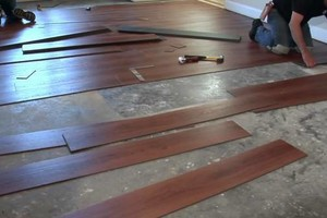 Photo #1: Flooring wood, vinyl, glue down
