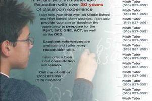 Photo #1: Math Teacher/Tutor