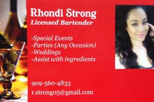 Photo #1: FEMALE BARTENDER here for your next party/event!