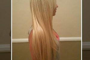 """Photo #1: Weave plus 16"""" hair $225"""