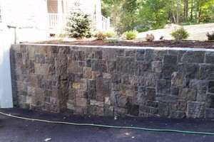 Photo #1: Custom Landscape And Construction, LLC. Unilock walls and patios