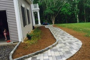 Photo #3: Custom Landscape And Construction, LLC. Unilock walls and patios