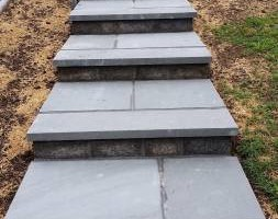 Photo #7: Custom Landscape And Construction, LLC. Unilock walls and patios
