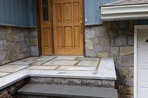 Photo #15: Custom Landscape And Construction, LLC. Unilock walls and patios
