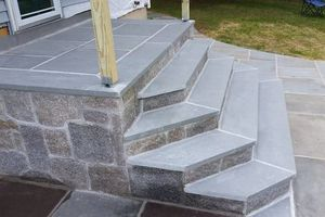 Photo #16: Custom Landscape And Construction, LLC. Unilock walls and patios