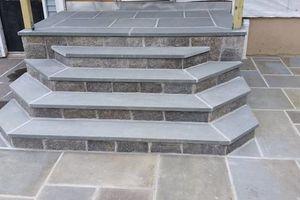 Photo #19: Custom Landscape And Construction, LLC. Unilock walls and patios