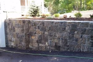 Photo #21: Custom Landscape And Construction, LLC. Unilock walls and patios