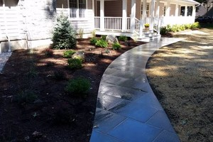 Photo #22: Custom Landscape And Construction, LLC. Unilock walls and patios