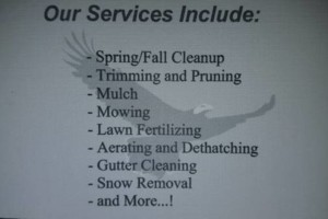 Photo #4: EAGLE CONTRACTING. Fall/Winter Landscaping Services