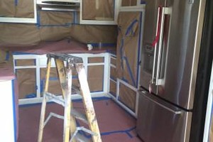 Photo #5: Kitchen cabinet refinishing