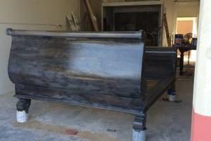 Photo #1: Kitchen cabinet refinishing