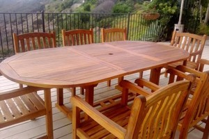 Photo #1: TEAK FURNITURE REFINISHING PRO