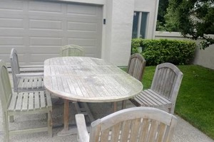 Photo #2: TEAK FURNITURE REFINISHING PRO